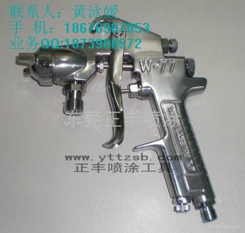 日本岩田W-77壓送式和吸上式手動空氣噴漆槍 1