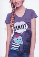 女式休闲短袖印花T恤