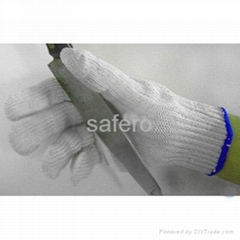 Covered stainless steel cut resistant glove