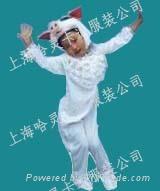 售租猪服动物装儿童服饰|上海哈灵卡通服装