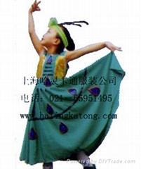 售租孔雀服装儿童服饰,上海哈灵卡通厂