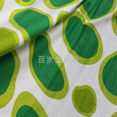 rayon stretch printed fabirc
