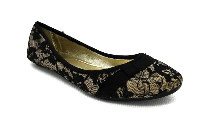 Women s Lace Fabric Flat Shoes