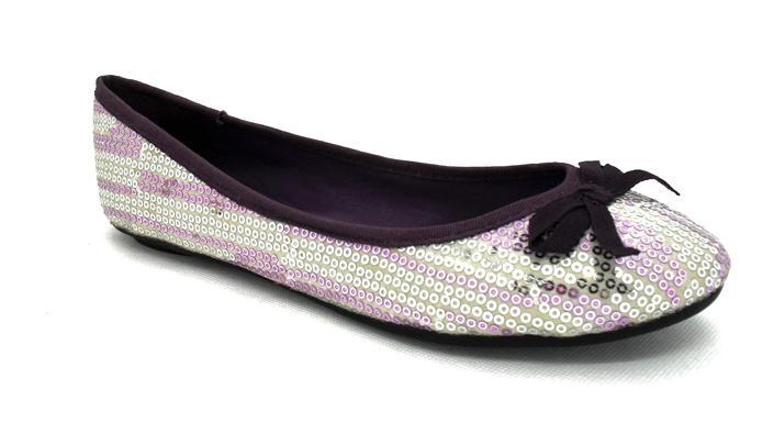 Lindsay Phillips Womens Liz Silver Metallic Ballet Flat Shoes Switchflops