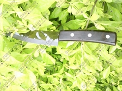 "5"" Chef's ceramic knife w/ black mirror ceramic blade and African Ebony Handle"