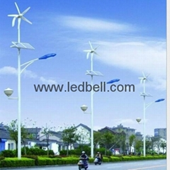 Solar wind hybrid led street lights