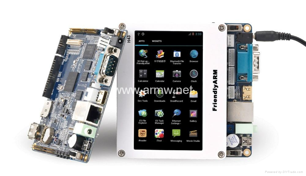 Mini210S S5PV210 ARM Cortex-A8 Board SBC 512M RAM 1GB SLC NAND Flash +7inch LCD
