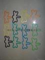 硅膠手環/昆虫造型彩色橡皮觔 2