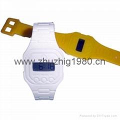 硅膠超薄時尚電子手錶