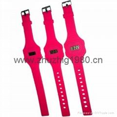 硅膠超薄時尚電子手錶,促銷禮品