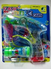 flashing & music bubble gun