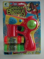 blue light & music bubble gun