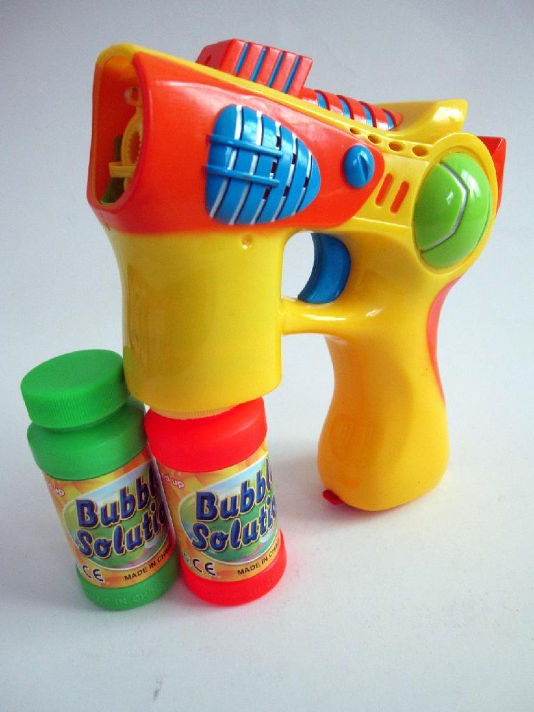blue light & music bubble gun  3