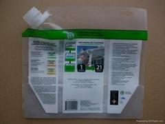 liquid pesticide spout bag