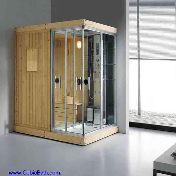 Wooden dry steam room unit ft sn03 cubicbath china for Cost of building a home sauna