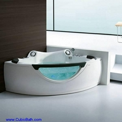 Whirlpool bathtub with speaker and glass front panel-FT-210
