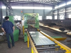 Steel floor deck welding machine