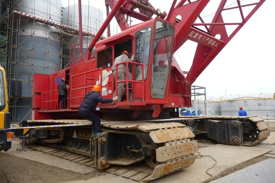 sell manitowoc used 350ton crawler cranes 4600s china trading company construction machine. Black Bedroom Furniture Sets. Home Design Ideas