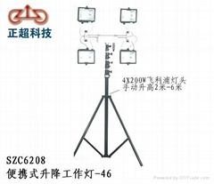 供应重庆SZC6208便携式升降工作灯