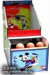 北京奧銳儿童投籃機投幣遊戲機