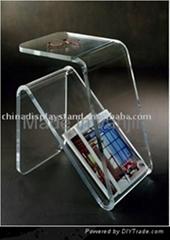 亚克力茶几透明有机玻璃杂志架