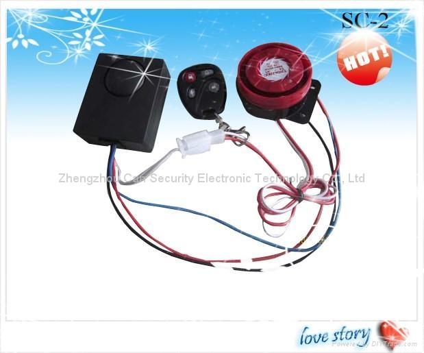 Moto /elec car burglar alarm system 1