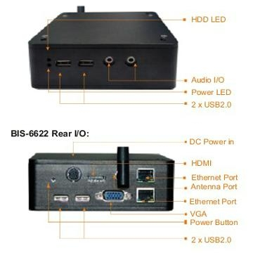 NORCO BIS-6622IV Mini PC Based on Intel Atom E6XX Processor 4