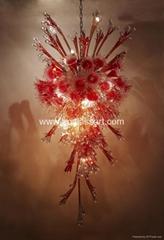 酒店/賓館藝朮玻璃吊燈彩色玻璃燈具  PX20
