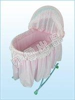 Pink low carbon environmental baby swing bed