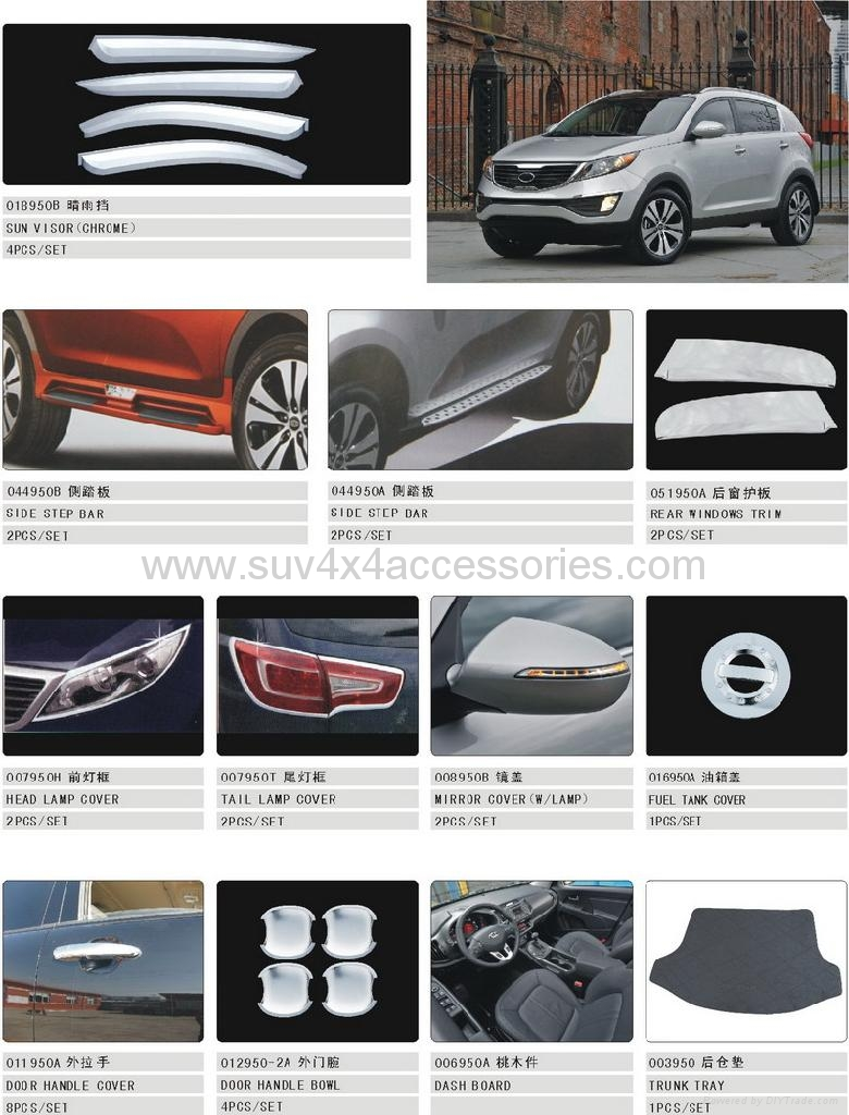 Accessories For Sportage 2010 China Trading Company Car Exterior Decoration Car