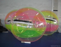Colour water walking ball