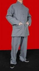 Grey Cotton Kung Fu Martial Arts Tai Chi Uniform Suit