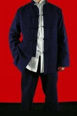 Blue Cotton Kung Fu Martial Arts Tai Chi Uniform Suit