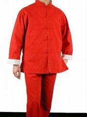 Red Cotton Kung Fu Martial Arts Tai Chi Uniform Suit