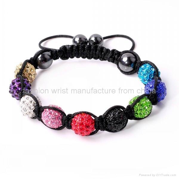 Shamballa Bracelet Multi Coloured Crystal Disco Ball  2