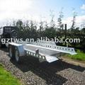 Galvanized car trailer