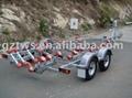Roll-on boat trailer 1