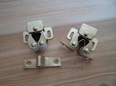 Metal Double Roller Catch  Brass