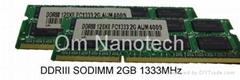 DDR3 PC10660U 2GB SODIMM 1333Mhz