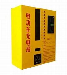 智能型投幣刷卡式小區車庫車棚電動車充電站