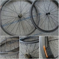 38mm tubular carbon bicycle wheelset