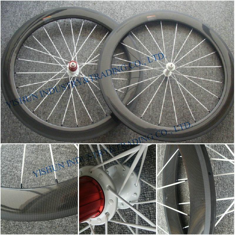 60mm tubular carbon road wheels 1