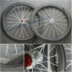 60mm tubular carbon road wheels
