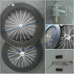 80mm tubular carbon road wheels
