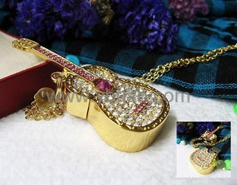 jewelry guitar usb flash drive