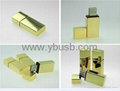 golden metal usb Flash Drive