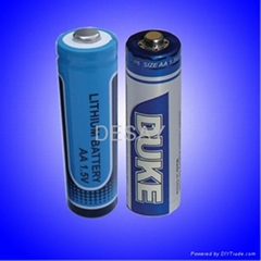 1.5V FR6 AA Lithium Iron Disulfide battery