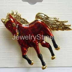Fashion Gold-Plated Tone Horse Pendent Necklace Equestrian Horse-Lover Presence