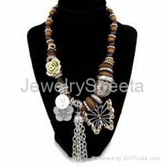 Women Costume Necklace Vintage Style Jewelry Set Wholesale Chinese Custom Trendy