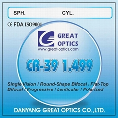CR-39 1.499 Resin Single Vision Optical Lenses